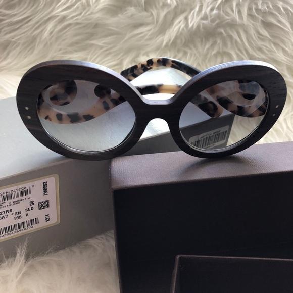 49c306b0002d Prada Wood Baroque 55 MM Sunglasses. M 5abe6153daa8f6599ef32670